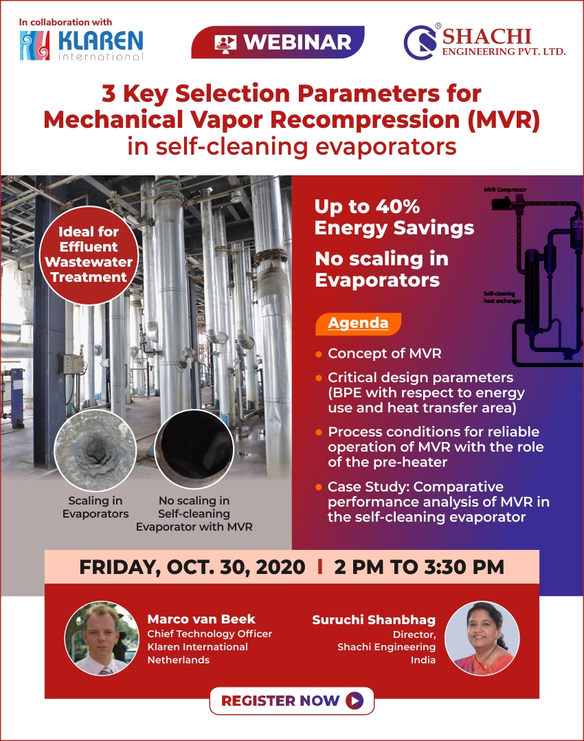 3 Key Selection Parameters for Mechanical Vapor Recompression(MVR)