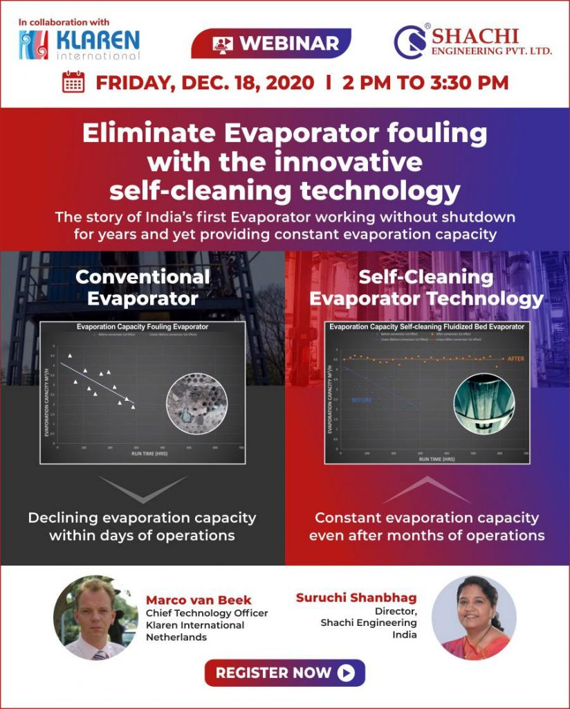 Eliminate Evaporator fouling with the innovative self-cleaning technology